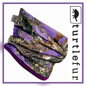 TURTLE FUR Women's O/S Purple Camo Neckula Neck Warmer Fleece Lined TrueTimber