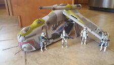 *Star Wars Green Squadron REPUBLIC GUNSHIP + Clone Trooper Assault Platoon Lot*