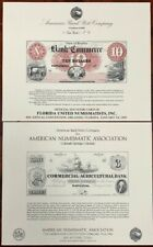 United States American Bank Note Souvenir Cards SO40-41 1985 Mint