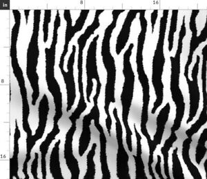 Zebra White Tiger Stripes Horse Zoo Spoonflower Fabric by the Yard