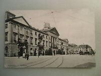 Ansichtskarte Karlsruhe Rathaus 1907 Bauphase am Dach wohl selten !?
