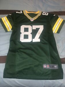 Nike Womens Green Solid On Field NFL Jordy Nelson 87 Football Jersey Size Small