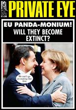 PRIVATE EYE 1303 - 9 - 22 Dec 2011 - Nicolas Sarkozy Angela Merkel - EU PANDA-MO
