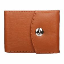 Modish Designs Tan Color Artificial Leather Trifold Wallet for Mens/Boys