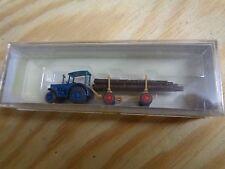 N 1:160 Preiser 79504 Hanomag-Schlepper mit Langholzanhänger. OVP