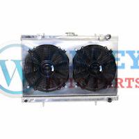 2 Rows 52mm Aluminum radiator + Shroud + Fan for Skyline R32 GTST RB20DET manual