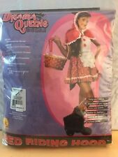 New Teen Red Riding Hood Dress with Wolf Boot Tops & Tail Tween Medium 2-4