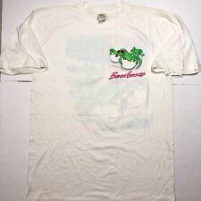 Vintage Beach Gecko Hawaiian Graphic Mens Size Large White T-Shirt Surf