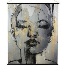 Bild Wandbild Rollbild KAKEMONO Anja Gold und schwarz 124 X 145