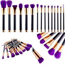 15Pcs Professionnel Pinceaux Brosse Maquillage Cosmétiques Set de Trousse Kits
