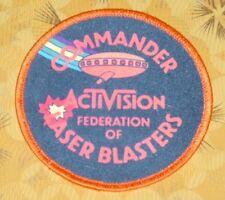 ~ Atari Video Game Vintage 80's Activision Award Patch - Laser Blast Commander ~