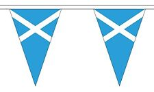 SCOTLAND ST ANDREW LIGHT BLUE 20 metre TRIANGLE BUNTING 30 FLAGS flag 54 FLAGS