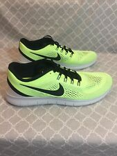 Nike Free RN Ghost Green Black Men's Running Shoes Size 13 831508-302