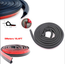 5M Adhesive Pickup Truck Bed Rubber Tailgate EPDM Seal Strip Kit Tailgate Black