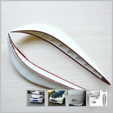 2x Car Front Back Bumper Anti-rub Cover Sticker Protector Guard White Streamline