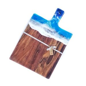 Hand Poured Resin Cheese board Serving resin homeweres  cheeseboard