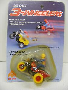 Mc Toy Die Cast Honda 250R 3 Wheeler Vintage Pull Back Action Poseable Rare