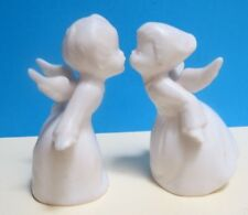 Kissing Angel Pair ~ Schmid Bros (Brothers) ~ Ceramic ~ W/Label ~ Japan
