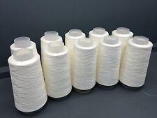 Cône 10x100g très fine coton Merc 2/100 (imitant la soie) fils blanc ecru brut