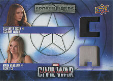 Captain America Civil War Costume Card BBC-CM Elizabeth Olsen & Emily VanCamp