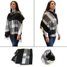 Womens Plaid Pashmina Winter Warm Tartan Check Shawl Wrap Stole Neck Long Scarf