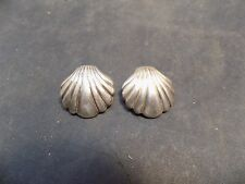 Sea Shell Earrings Vintage Sterling Silver