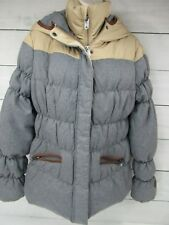 UBLAR Full Zip Hooded Womans Puffer DownFilled Parka Jacket  Size M/38  - H801