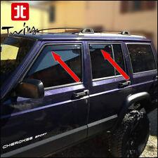 Set 4 Deflettori Aria Antiturbo Oscurati Jeep Cherokee XJ 1997-2001 5 porte 5p