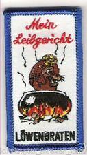 "Anti 1860 Aufnäher ""MEIN LEIBGERICHT"" Kutte Weste Fan Patch Block Kurve + neu +"