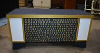 Antique Mid Century Refinished Blanket Cedar Chest, Custom Coffee Table