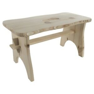 Children Wooden Stool / Toddler Chair / 40x19x21cm/Unpainted Pinewood Small Step