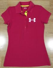 Under Armour Collared Shirt Womens Size Xs Pink White Bright Yellow