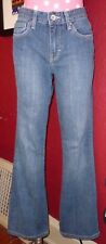 "Blue Denim CALVIN KLEIN JEANS Flare Sz 28/6 Low-Mid-Rise 31"" Inseam Stretch"