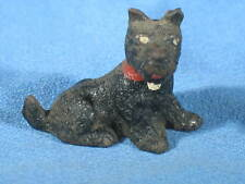 Antique Painted Cast Iron Miniature Terrier Dog Paper Weight
