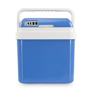 electriQ 24l Portable Hot Cold Electric Cool Box with 12v and Mains Plug