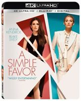 A Simple Favor [New 4K UHD Blu-ray] With Blu-Ray, 4K Mastering, 2 Pack