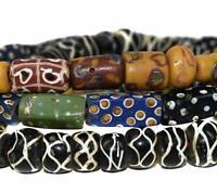 Rectangular Eye Rattlesnake Mixed Trade Beads  Venetian OLD