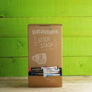 BEANIES Instant Coffee | 10, 100 or 200 Mixed Flavour Stick Stash Dispensing Box
