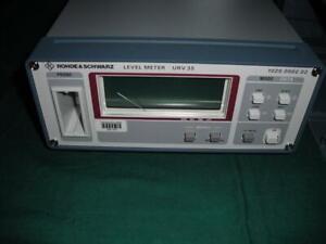 Rohde & Schwarz URV35 RF Millivoltmeter Leistungs- und Spannungsmessgerät NEUW