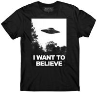 UFO t-shirt, I want to believe t-shirt, glow in the dark, Area 51 t-shirt, Alien