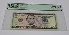 Fr. 1996-A* 2013 Five Dollar Star Note $ 5 FRB Boston PCGS Graded 66 Gem New