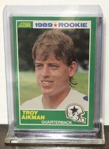 1989 TROY AIKMAN DALLAS COWBOYS SCORE ROOKIE #270 RC