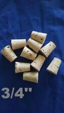 CORK stopper plug round tapered style crafts fishing lab wine all natural *3/4*