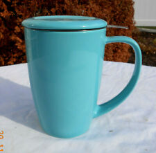 FORLIFE Curve Brew in Mug With Stainless Steel Tea Infuser - Turquoise