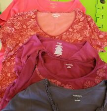 Vanhuesen, white stag, danceskin, st John's Bay Womens tops LOT OF 5 - Large