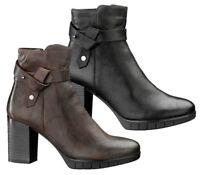 KEYS 7197 NERO T MORO scarpe tronchetto stivaletti stivali donna pelle zeppa