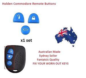 BLUE 1X Sets Key Remote Buttons Holden Commodore Key  VS VT VX VY VZ WH WK WL