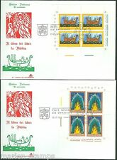 VATICAN CITY SC#550/54 THE BIBLE  MINIATURE SHEETS ON FIRST DAY COVERS