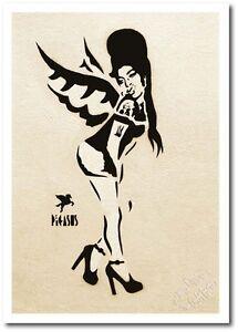 "Pegasus Artist - Open Greeting Card - "" Fallen Angel "" - PG003 - Blank Card"