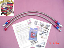 1986-1989 Porsche 951  944 Turbo , Stainless Steel Braided Fuel Lines 2 PCS